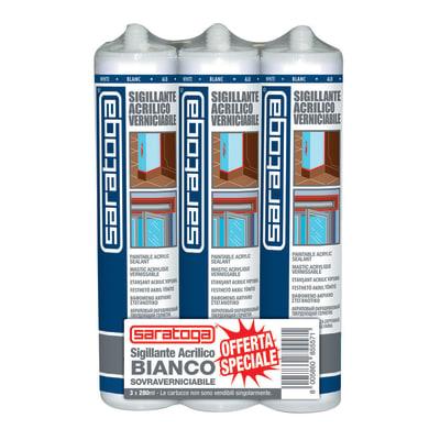 Silicone SARATOGA Trispack bianco 280 ml