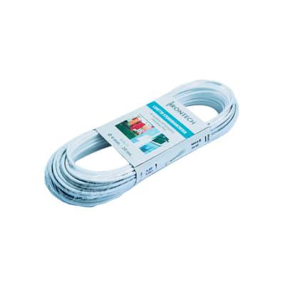 Corda stendibiancheria STANDERS ottonato rivestito PVC bianco 20 mt. in acciaio Ø 5 mm x 20 m