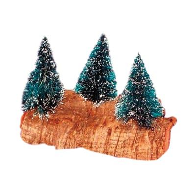 Alberi di pino su roccia x H 5 cm