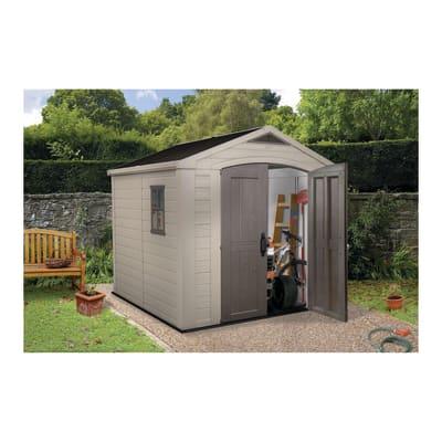 Casetta da giardino in resina Factor 8X8 Keter 6.55 m² spessore 16 mm