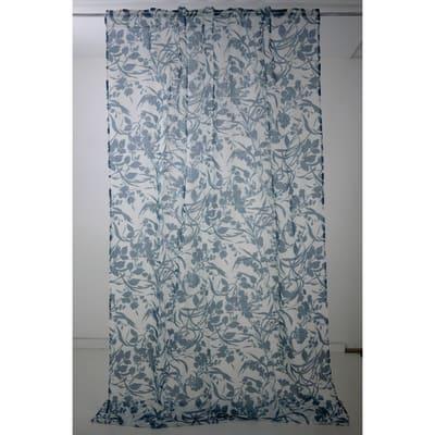Tenda Canopee blu fettuccia con passanti nascosti 140x295 cm
