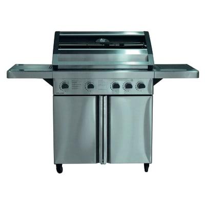 Barbecue a gas con fornello laterale e 4 bruciatori