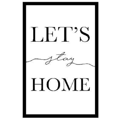 Immagine Let'S Stay Home 42x63 cm