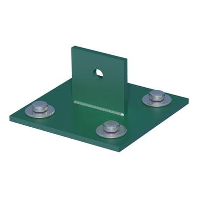 Supporto per palo FERRO BULLONI Supporto per saetta in acciaio galvanizzato plastificato da fissare verde L 100x H 4.3