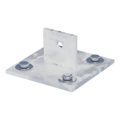 Supporto per palo FERRO BULLONI Supporto per saetta in acciaio galvanizzato da fissare grigio L 100x H 4.3