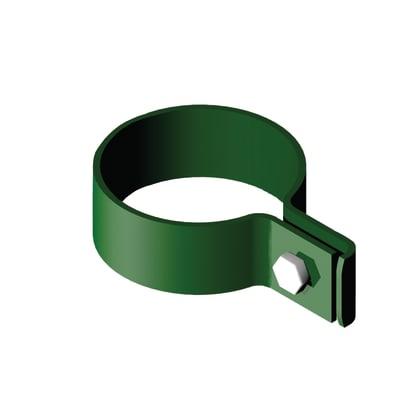 Collare di fissaggio in acciaio galvanizzato plastificato Collare tondo semplice L 8 x P 8 x x H 2.5 cm
