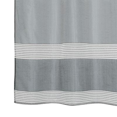 Tenda Stripe grigio occhielli 140x280 cm
