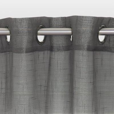 Tenda Lucciola grigio occhielli 140x280 cm
