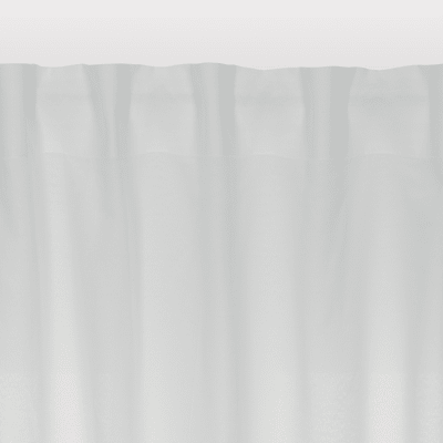 Tenda INSPIRE Polycotton bianco nastro arricciatura automatica 140x280 cm