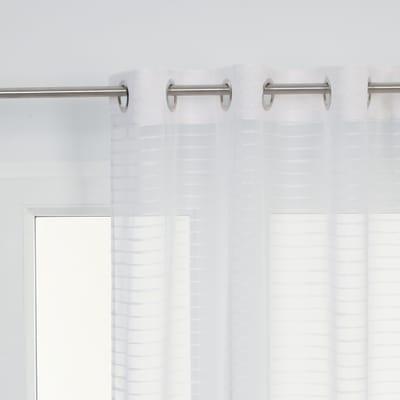 Tenda Righe orizzontali bianco occhielli 140 x 280 cm