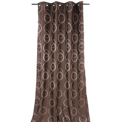 Tenda Rondine marrone occhielli 140x280 cm