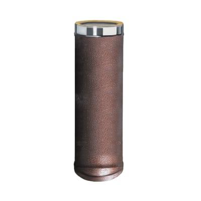 Condotto a doppia parete Tubo DP coib. Arabesc d.80/130 in inox 316l (elevata resistenza in condizioni climatiche estreme) 100 cm