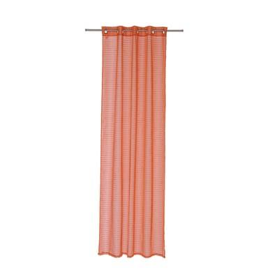 Tenda Righe orizzontali arancione occhielli 140x280 cm