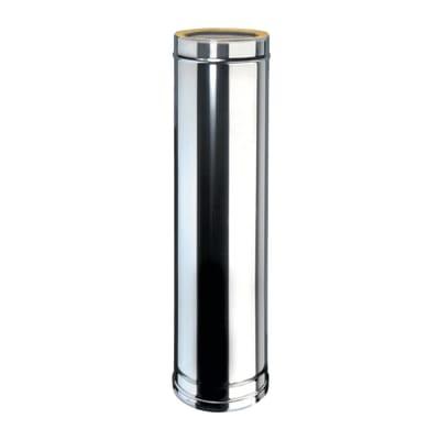 Condotto a doppia parete Tubo DP coib Aisi 316L d.150/200 in inox 316l (elevata resistenza in condizioni climatiche estreme) 100 cm