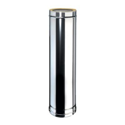 Condotto a doppia parete Tubo DP coib Aisi 316L d.200/250 in inox 316l (elevata resistenza in condizioni climatiche estreme) 100 cm