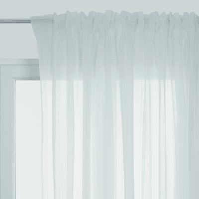 Tenda Toledo bianco fettuccia con passanti nascosti 300 x 290 cm