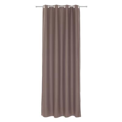 Tenda INSPIRE Oscurante marrone occhielli 140x280 cm