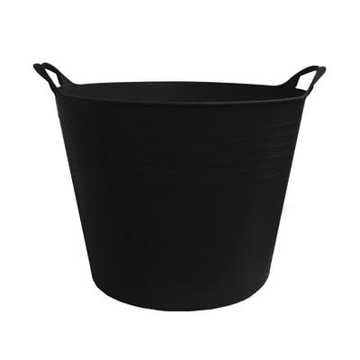 Secchio in plastica Flexso nero 27 L nero