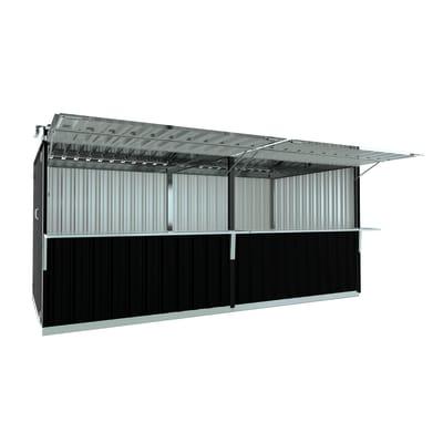 Chiosco in metallo Cuba c/mensole 14.41 m² spessore 0.6 mm