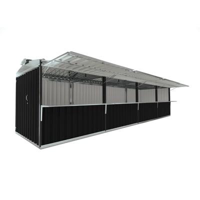 Chiosco in metallo Cuba c/mensole 28.38 m² spessore 0.6 mm