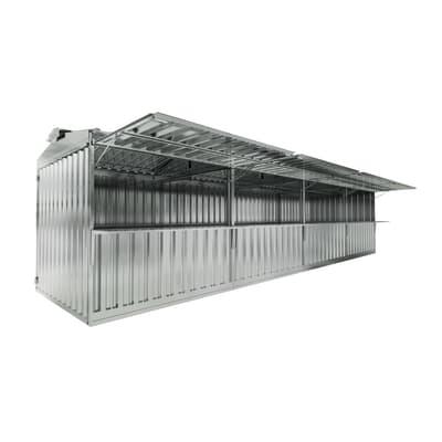 Chiosco in metallo Daikiri 4 ribalte c/mensole 25.55 m² spessore 0.4 mm