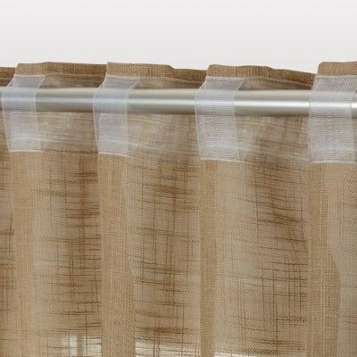 Tenda INSPIRE Amina tortora fettuccia con passanti nascosti 200x280 cm
