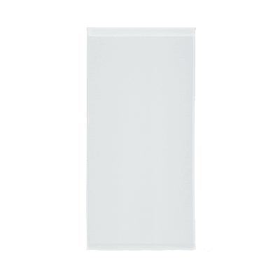 Tendina vetro Leo bianco tunnel 60x120 cm