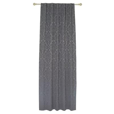 Tenda Grace grigio passanti nascosti 135x280 cm