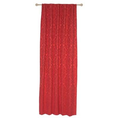 Tenda Grace rosso passanti nascosti 135x280 cm