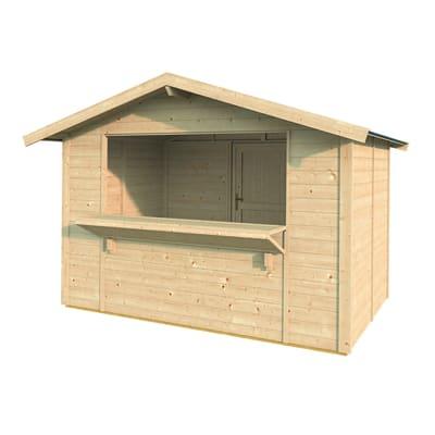 Chiosco in legno Spritz 1 ribalta 5.9 m² spessore 19 mm
