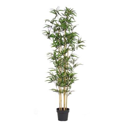 Pianta artificiale Bamboo in vaso H 165 cm
