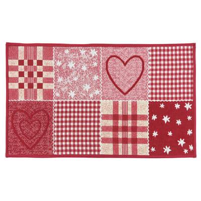 Tappeto Cucina antiscivolo Master cuore rosso 80x50 cm