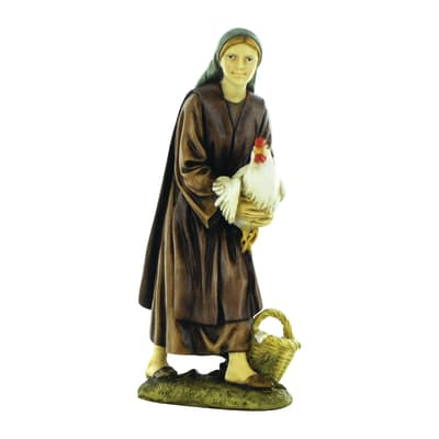 Figura decorativa in resina H 12 cm