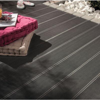 Listone NATERIAL Kyoto in composito grigio L 220 x H 14.5 cm, Sp 21 mm