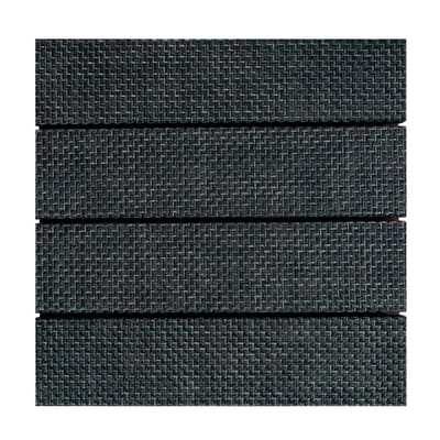 Piastrelle ad incastro Woven 30 x 30 cm, Sp 32 mm colore grigio