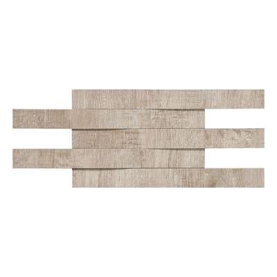 Mosaico Taiga Mandorlo H 30 x L 15 cm beige