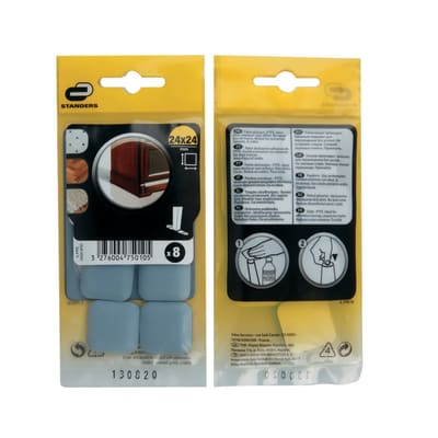 Pattino STANDERS L 24 x H 24 mm, 8 pezzi
