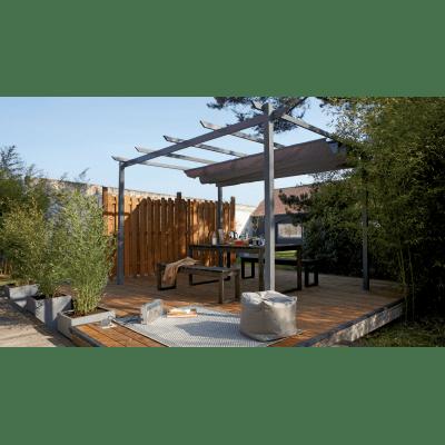Pergola in alluminio Niagara Premium grigio 300 cm x 0 m x 300 cm