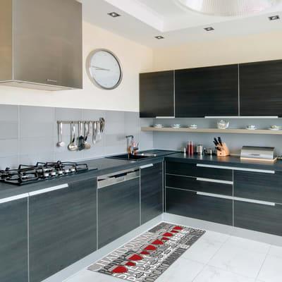 Tappeto Cucina antiscivolo Relax vino grigio chiaro 230x50 cm