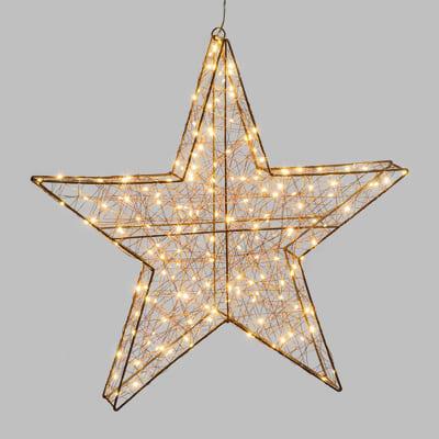 Stella luminosa 180 lampadine bianco caldo H 60 cm