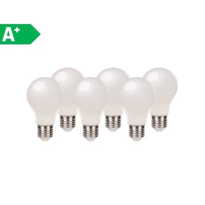 Lampadina LED E27 standard bianco naturale 9.7W = 806LM (equiv 60W) 220° LEXMAN, 6 pezzi