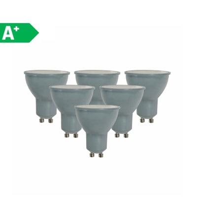 Lampadina LED GU10 riflettore bianco naturale 6W = 450LM (equiv 50W) 100° LEXMAN, 6 pezzi
