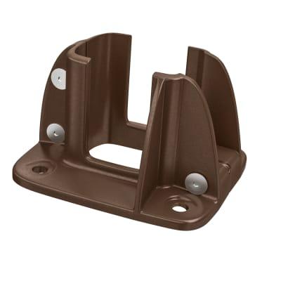 Supporto per palo Composite Premium Frangisole / Frangivista in alluminio da fissare marrone L 12x H 8