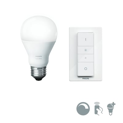 Lampadina smart lighting LED E27, Goccia, Opaco, Bianco, Luce calda, 9.5W=806LM (equiv 60 W), 150° , PHILIPS HUE