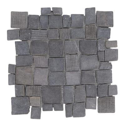 Piastrella decorativa Quadropiatto H 30 x L 30 cm nero