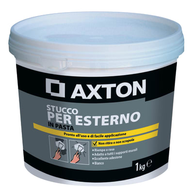 Stucco in pasta AXTON per esterno 1 kg bianco