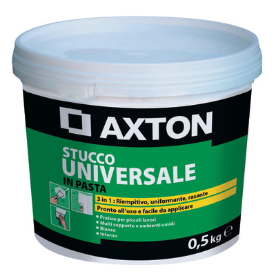 Stucco in pasta AXTON Universale 500 g bianco
