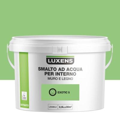 Vernice di finitura LUXENS Bimano base acqua verde esotico 5 satinato 2.5 L