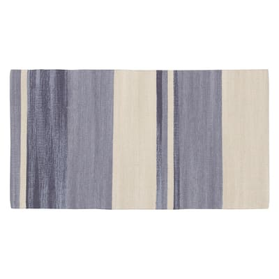 Tappeto Antibes in cotone, grigio, 55x180 cm