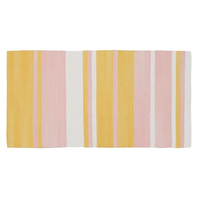 Tappeto Antibes in cotone, rosa, 55x180 cm